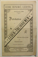 Orig. Prospekt Fabrikation von Leder-Treibriemen um 1870 Technik Geschichte sf