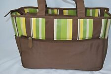 Pretty Baby Brown Green Yellow Unisex Boy Girl Diaper Bag 2 Straps Zip Closure