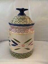 Temp-Tations Old World Cookie Jar- Multi Colored