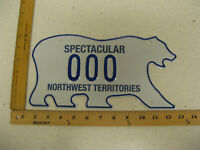 Northwest Territories Polar Bear License Plate SAMPLE SPECTULAR NWT 000 MINT