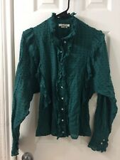 isabel marant Etoile Green Cotton Blouse Top Sz 36
