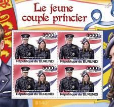 ROYAL WEDDING Prince William & Kate Middleton Stamp Sheet #5 of 5 (2011 Burundi)