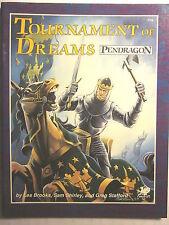 Chaosium #2706: Pendragon TOURNAMENT OF DREAMS / CIRCLE OF GOLD (1987, NM 9.4)