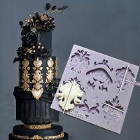 silicona broche joyería Fondant molde torta decoración DIY mold de hielo