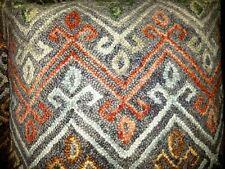 Pair Euro Shams Wool Persian Textile Rug Pillows Kilim Tribal Bedding Linens