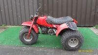 Honda Trike ATC110 ( Quad ) BIKE FARM 3 Wheeler, Project Spares or Repair 1984