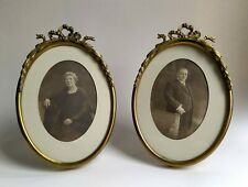 Pair of antique brass photo frame