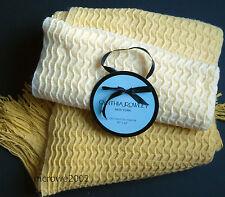 Cynthia Rowley YELLOW Textured Raised Weave *THROW BLANKET Ombre Soho 50x60 NEW