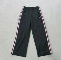Adidas Pants Adult Small Black Pink Stripes Spell Out Warm Up Trainer Mens 90s*