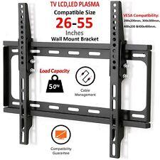 "TV Wall Bracket Mount 26-55"" Fixed For TV LCD LED VESA 200x200mm 300x300mm 400mm"