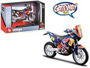 1/18 Bburago RedBull KTM 450 Rally #1 Dakar Rally Bike Model Red Bull 51071