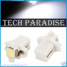 6x Ampoule B8.3D BX8.3D BAX10S ( T5 sur culot ) LED SMD Blanc White Neo Wedge