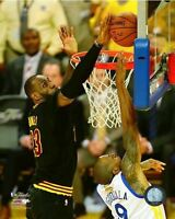 LEBRON JAMES THE BLOCK CLEVELAND CAVS 2016 NBA CHAMPIONS  8X10 LICENSED PHOTO