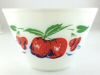 Vintage Fire King Ovenware Milk Glass Large Cherry Bowl 6inx9.5in S235
