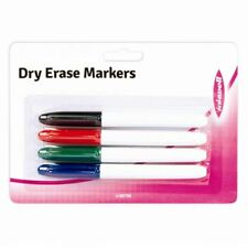 Dry Erase Markers 4 Pack Thin Thick Slim Marker Board Whiteboard Dry Wipe Clean