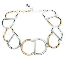 Christian Dior Your Dior CD Logo Choker Necklace in Gold and Palladium