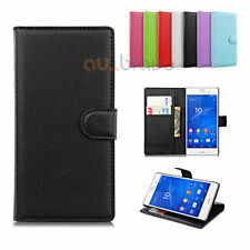 Synthetic Leather Patterned Mobile Phone Cases, Covers & Skins for Sony Xperia Z3 with Card Pocket
