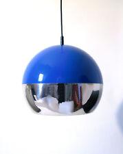 60s Chrom Kunststoff space age Leuchte pendant lamp Lampe suspension annees 60