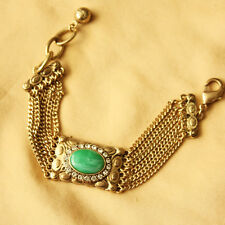 Bracelet Femme Strass Vert Multihang Moderne Original Soirée Mariage Cadeau CT5