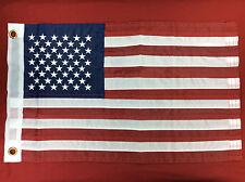 AMERICAN SEWN FLAG 12x18 USA US UNITED STATES BOAT MARINE SEACHOICE 78211