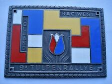 SCARCE 1957 VINTAGE R.A.C.WEST HOLLAND 9E TULPENRALLYE COMPETITORS ENAMEL PLAQUE