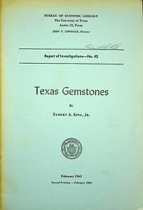 Rock Currier Collection - Texas Gemstones University of Texas 42 pages 1961