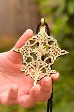 "Ethiopian Cross Necklace jewelry religious gift 30"" Rope"