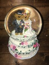 NIB Boyds Bears Doug And Jill A Day To Remember Wedding Water globe NIB 1E