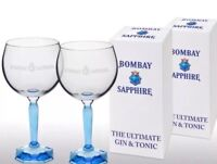 2 X Gift Boxed Bombay Sapphire Gin Balloon Glasses Cheapest On eBay