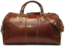 Original Italian Leather Duffle Weekend Travel Overnight Bag Holdall (18EB)