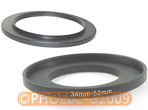 34mm to 52mm 34-52 mm Step Up Filter Ring  Adapter