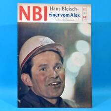 DDR NBI 21 1968 Täve Schur Alextunnel Artisten Bonn Mexiko DAMW Die Schmiere P