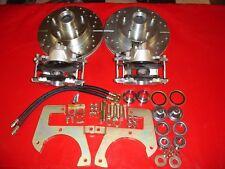 1941-1948 Chevrolet car front disc brake kit drilled slotted rotors
