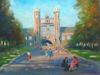 "Listed Nino Pippa Original Oil Painting Washington U St. Louis 12""X16"" COA"