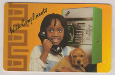 South Africa Telkom Phonecard, Wondering Girl - Girl on Payphone Complimentary