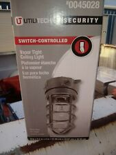 New listing Utilitech Security Vapor Tight Ceiling Light 0045028 Industrial, Up to 100W Bulb