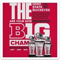 O.S.U. Ohio State University BIG 10 CHAMPIONS 2019 Back2Back2Back 3 Peat MAGNET