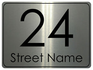 770 Custom Personalised Address Metal Aluminium Sign Door Plaque House Office