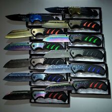 NEW WHOLESALE LOT 12 PCS TACTICAL ASSORTED SPRING ASSISTED FOLDING POCKET KNIFE