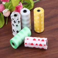 5 Pcs Pet Waste Poop Bags Dog Cat Clean Up Refill Garbage Bags Degradable Random