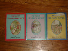 Lot of 3 Books The Tale Of Bunnies Puddle Duck Mrs Tiggy Winkle Beatrix Potter