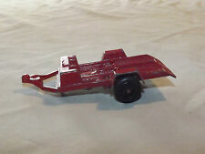 VINTAGE TRUCK CAR TOY  1969 TOOTSIETOY MADE IN USA RED METAL MOTORCYCLE  TRAILER