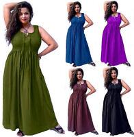 Bohemian Maxi Dress - Smocked Lacing Empire Waist - LotusTraders R373 Plus Size