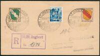 Alliierte Besetzung/SAAR+Franz. Zone R-Brief St. Ingbert 20.6.1947 to Weingarten