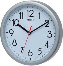 Unity Hastings balayage Silencieux Horloge murale Argenté