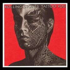 More details for the rolling stones - tattoo you - framed album cover print acppr48037