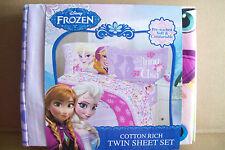 Disney'S Frozen Elsa & Anna Twin Polyester Twin Sheet Set - Single Bed