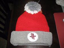 MENS HOUSTON ROCKETS Mitchell & Ness Winter BEANIE HAT GRAY/RED/WHITE  NWT