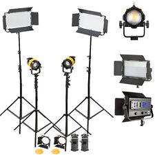 Portatile ad alta cri Bi-Color 80 W LED Riflettore di Fresnel per Video Fotocamera Studio LI