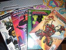lot of 4 Deadpool Comics Annual #1, #19, #18 Civil war 2, Back in Black 2 Mint